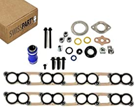 EGR Cooler & Intake Manifold Gasket Kit Set With Hardware Compatible With 2003-2007 Ford 6.0L Diesel Powerstroke diesel F250 F350 F450 F550 Excursion E-Series