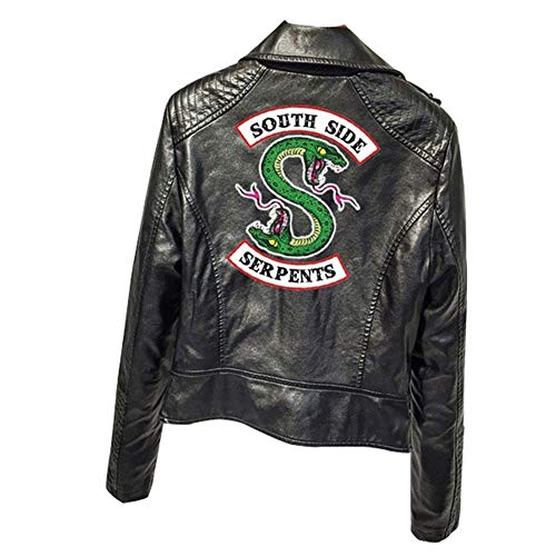 IFITBELT Mujer Riverdale Southside Serpientes Cuero Jacke Chaquetas PU Leather Moto Jacket Cosplay Abrigo Deporte Tops