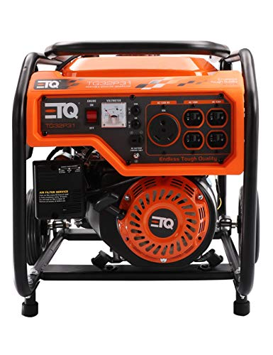Etq TG32P31/TG32P31DF Tough Quality 3600-Watt Gas Powered Generator, Extremely Quiet- CARB Compliant (TG32P31)