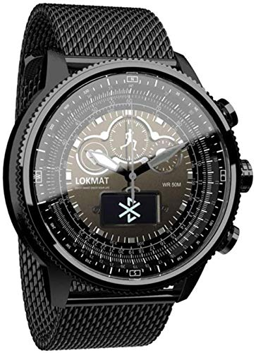 Reloj de pulsera para hombre, resistente al agua, cronógrafo, analógico, de cuarzo, de acero inoxidable, con monitor de calorías, podómetro