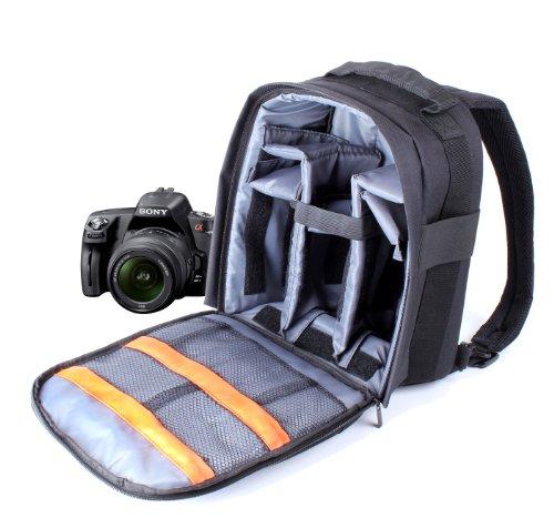 DURAGADGET Mochila Resistente con Compartimentos para Cámara Sony DSC-HX300 + Funda Impermeable Fotografiar Bajo La Lluvia!