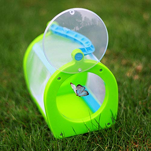 Pinsofy Insektenkasten, tragbarer Insektenkäfig aus Kunststoff, Schmetterlingskäfig, Lernspielzeug für die Gartenerziehung liefert Gewächshaus