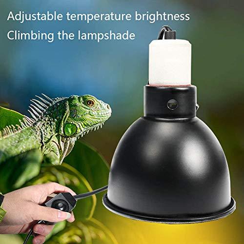 WANGIRL Portalampada E27 UV per Rettili con Morsetto, Lampada per Riscaldamento a Tartaruga Rettile da 75 W Portalampada Lampada per Riscaldamento in Ceramica (Spina UK)