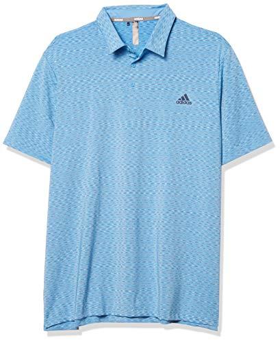 Adidas Ultimate365 Space Dye Stripe Polo para hombre - TM1400F20, Ultimate365 Space Dye - Polo a rayas, XL, azul claro/azul marino/blanco
