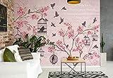DekoShop Fototapete Vliestapete Vögel Kirschblüten Rosa Vlies Tapete Moderne Wanddeko Design Tapete  2775VEXXL 312 cm x 29 cm Photo Wallpaper Mural Tapetenkleister Gratis