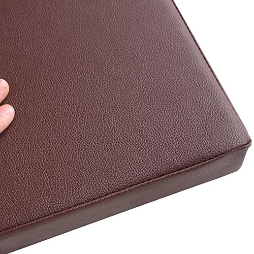 Cojín del asiento Pastillas De Silla, Cojines De Asiento Cojín De Silla De Cuero Grueso, Cuadrado Removible Durable Para Sofá Silla De Comedor Patio De O(Size: 40x40x5cm(16x16x2inch) ,Color:Chocolate)
