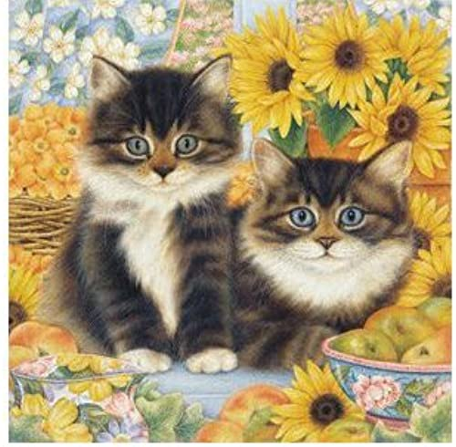 Great American Puzzle Factory Sunflower Kittens 750 Piece Puzzle