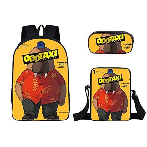 Maksim-003 Nueva mochila de dibujos animados anime diversión taxi ocio viajes adolescentes niños y niñas mochila de tres piezas (color: 6)