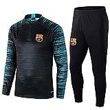 Traje de Entrenamiento de fútbol Traje de Manga Larga Traje de fútbol de Barcelona Suéter Azul Claro y pantalón de Pierna @ 1_L