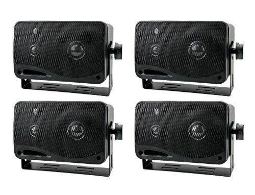 "4) New PYRAMID 2022SX 3.25"" 200w 3-Way Car Audio Mini Box Speakers System Inside"