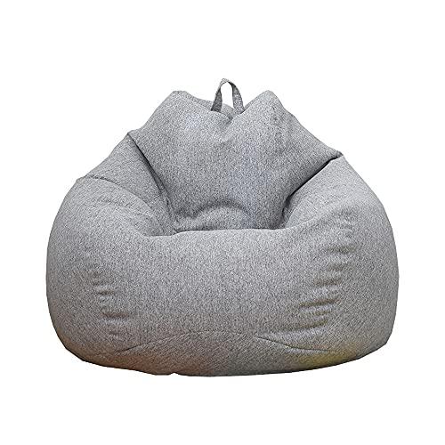 THBRLEE Sitzsack ohne Füllstoff, nur für Erwachsene und Kinder, Sitzsack, Sitzsack, Sitzsack, Sitzsack, Sitzsack für Zuhause, Wohnzimmer (S, Grau)