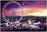 Ferris Wheel-Adult Puzzle 1000 Piece Decompression Puzzle 000 Piece Definition Landscape Wooden Puzzle Set