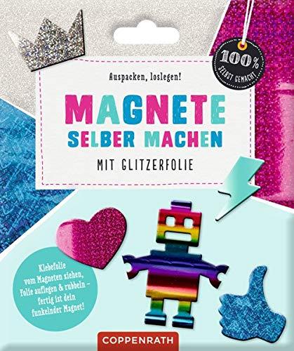 Magnete selber machen: Mit Glitzerfolie (100% selbst gemacht)