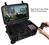 """Case Club Waterproof PlayStation 4 & PS4 Slim/Pro Portable Gaming Station with Built-in 24"""" 1080p Monitor, Storage for Controllers, Games, and Included Speakers (PS4 & Accessories Not Included) Gen 2"""