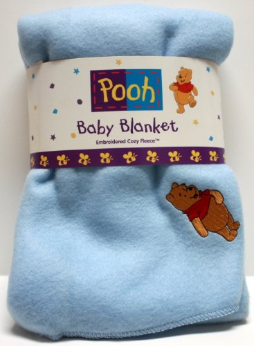 Light Blue Winnie the Pooh Plush Throw for Babies - Winnie the Pooh Baby Blanket