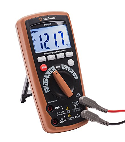 Southwire Tools & Equipment 11060S Auto-Ranging Digital Multimeter, 11 Functions
