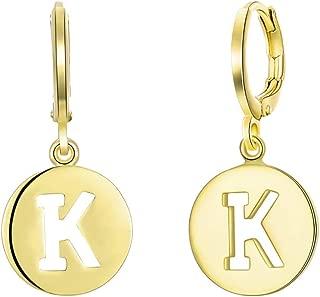 BLOOMCHARM Gold Jewelry Set Initial Letter K Alphabet Pendants for Women Girls