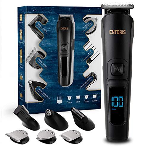 ENTORIS® [11] in [1] Premium Rasierapparat – Zahlreiche Bart Trimmer Aufsätze – Körperrasierer Herren, Präzisionstrimmer, Nasenhaartrimmer