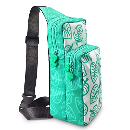 Switch Travel Bag, for Nintendo Switch,Console, Dock, Joy-Con Grip & Switch Accessories,Portable Shoulder Bag Storage Backpack for Nintendo Switch[for Animal Crossing New Horizons],Phone and iPad