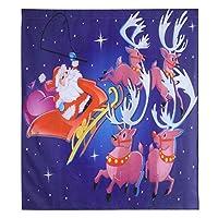 窓のドレープ、洗濯機のサポートサンタクロースカーテン、窓のカーテン、手洗い機の洗濯ホリデーパーティーのクリスマスにお祝いの感覚を作り出す(yk6)