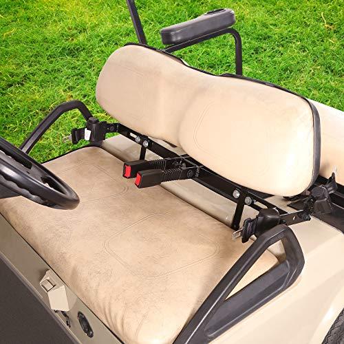 10L0L Universal 4 Passenger(2+2) Retractable Front Rear Golf Cart Seat Belt Kit for EZGO, Yamaha, Club Car