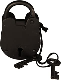 "3"" Antique Style Padlock - Iron Jailer Lock with Keys [Misc.]"