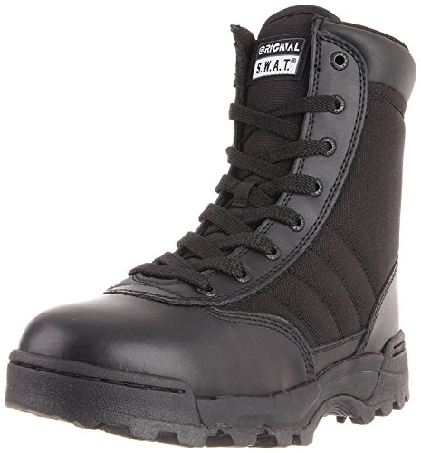 Original S.W.A.T. Men's Classic 9 Inch Side Zip Tactical Boot, Black, 11 D US