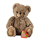 My Baby's Heartbeat Bear Recordable Stuffed Animals 20 sec Heart Voice Recorder for Ultrasounds and Sweet Messages Playback, Perfect Gender Reveal for Moms to Be, Lil Cocoa Bear