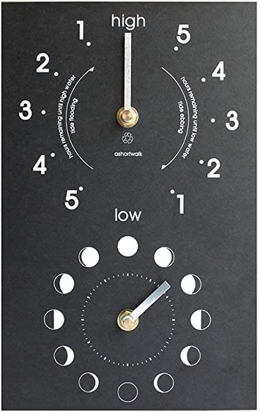 IPPINKA Recycled Moon And Tide Clock