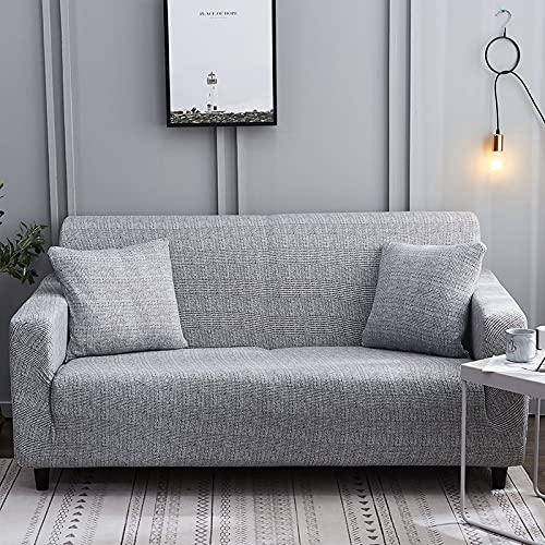 MKQB Funda de sofá elástica Suave y Agradable para la Piel, Funda de sofá Modular de Esquina para Sala de Estar, Funda de sofá Antideslizante con protección para Mascotas n. ° 2 M (145-185cm