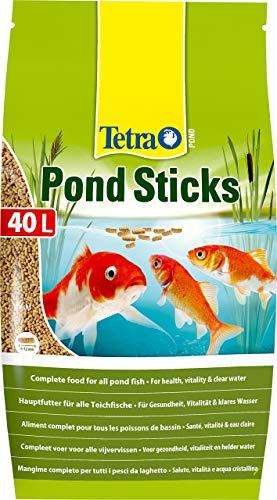 Tetra Pond Sticks - Fischfutter für Teichfische, für gesunde Fische und klares Wasser im Gartenteich, 40 L Beutel