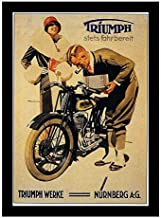 8 x 10 Framed Print 1911 Triumph Motorcycle Advertising Germany Vintage Old Advertising Campaign Ads