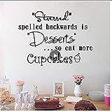 Petits gâteaux Vinyle Autocollant Doux Desserts Gâteau Peintures Murales Cadeau...