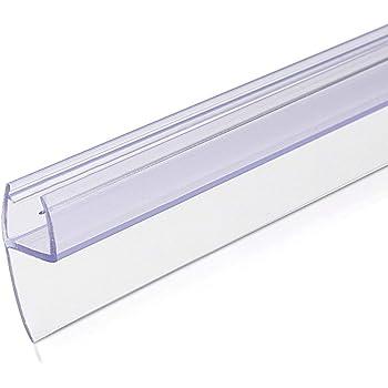Navaris junta de recambio para ducha - Repuesto para puerta de vidrio con grosor de 8MM - Sello protector contra salpicaduras 180° de 100CM de largo: Amazon.es: Bricolaje y herramientas
