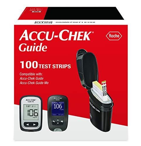 Accu-Chek Guide Glucose Test Strips, Diabetic Supplies (Pack of 100)