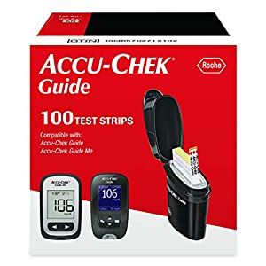 buy Accu-Chek Guide Glucose Test Strips (Pack of 100) Blood Test Strips