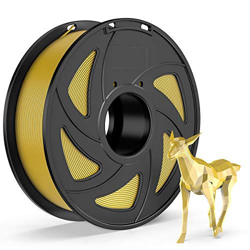 E-DA PETG Filament 1.75mm 1kg Spool 3D Printer Filament 3D Printing Materials Dimensional Accuracy +/- 0.05mm Transparent Yellow