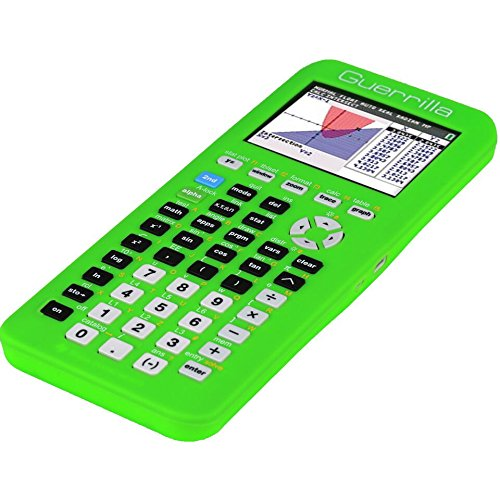 Guerrilla Silicone Case for Texas Instruments TI-84 Plus CE Color Edition Graphing Calculator With Screen protector and Graphing Ruler, Green Photo #3