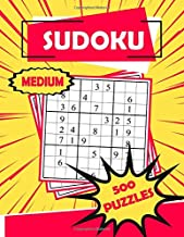 Sudoku Medium 500 Puzzles: Sudoku Puzzle Book - 500 Puzzles and Solutions - Medium Level - Volume 2. Tons of Fun for your Brain!