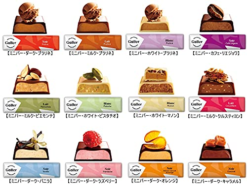 Gallerガレーチョコレートベルギー王室御用達ミニバー12本入ギフトボックス