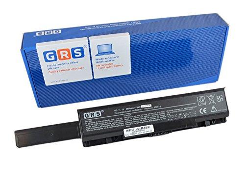 GRS Batterie avec 6600mAh pour Dell Studio 1735, 1737, Inspiron 1737 Serie, remplacé: RM791, KM973, KM976, RM870, MT335, KM978, RM868, PW823, Laptop Batterie 6600mAh, 11.1V