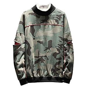 YueLove MäNner Camouflage Pullover Herbst FrüHlingsmode Patchwork Oansatz Langarm Casual Sweatershirts Streetwear Sweatjacke Kapuzenpullover Kapuzenjacke