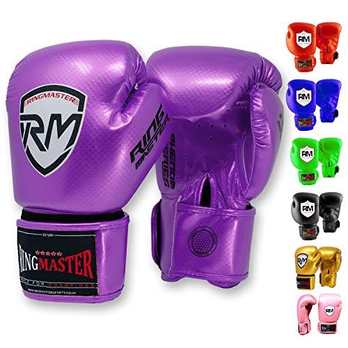 Ringmasteruk Guantes de boxeo para niños de piel sintética