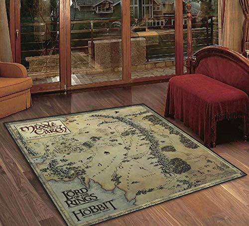 WWWL Felpudo retro mapa de la tierra media alfombra alfombra alfombra alfombra de habitación alfombra antideslizante alfombra 60 x 60 cm estilo 1