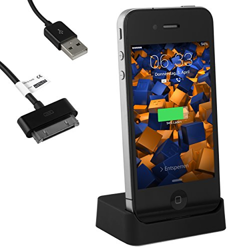 mumbi - Docking station USB per dock station per iPhone 4 4S / stazione base con cavo dati USB con line out
