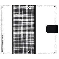 AQUOS R6 SH-51B ケース [デザイン:9.ブラック/マグネットハンドあり] メッシュホワイト アクオスr6 sh51b 手帳型 スマホケース スマホカバー 手帳 携帯 カバー