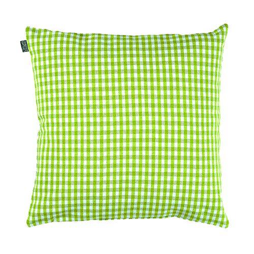 Linum OSBY Klassisch Kissenhülle Dekorativen Zierkissenbezug Waschmaschinenfest, Cotton, Apfelgrün, 50 x 50 cm