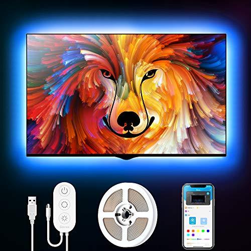 Govee Tira LED 2m USB, Luces LED RGB Bluetooth Control de App 16 Millones de Color, Modo de Escena soporta TV o Pantalla de Ordenador para Habitación, Juego Electrónico y Cine en Casa