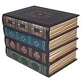 CLISPEED Caja de Libros Falsos Cajas de Joyas de Libros de Almacenamiento Vintage Libros Decorativos Adornos para Decoraciones del Hogar Almacenamiento Cofre del Tesoro Regalos Estilo B