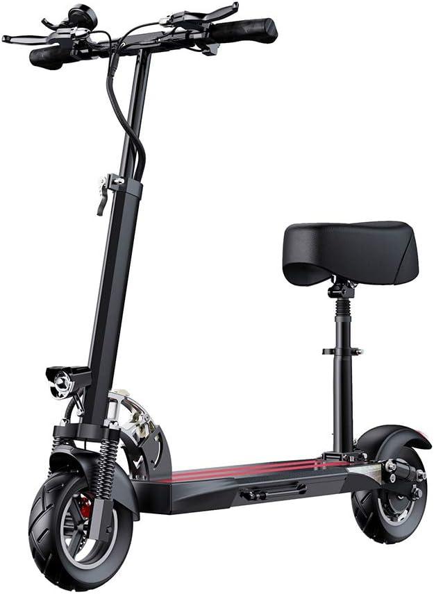 MDZZ Vespa eléctrica Plegable, Adultos E-Scooter con batería de Litio y Asiento Ajustable, 400W Ligero para Vespa del Viajero Viaje